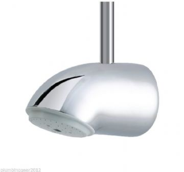 Rada VR125 vandal resistant shower head in chrome. Top entry. 1.0.098.81.1